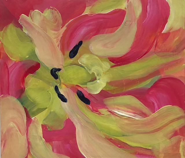 Tulip-20x17cm-acryl-op-paneel