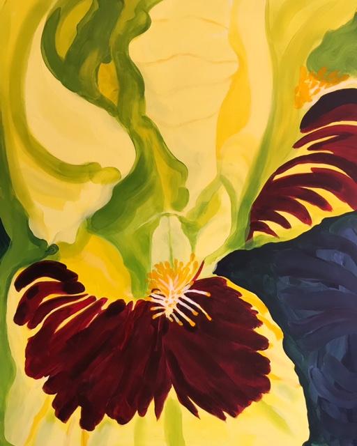 Iris 80x100cm Acryl op doek